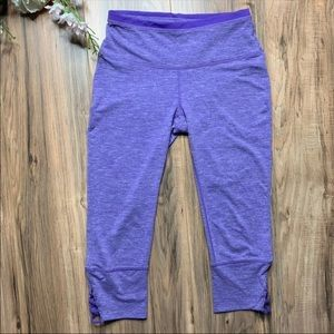 PrAna Tori Purple Cropped Leggings